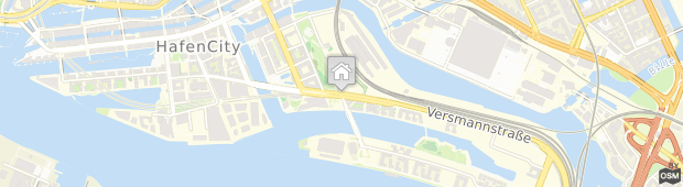 Umland des JUFA Hotel Hamburg HafenCity